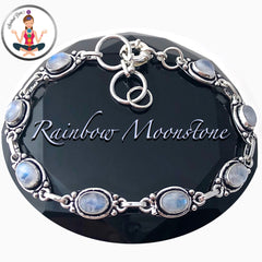 Moonstone Energy Healing Crystal Reiki Adjustable Gemstone Bracelet - Spiritual Diva