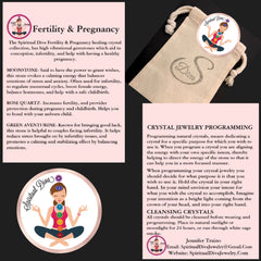 Fertility pregnancy healing crystal reiki collection description gift bag - Spiritual Diva