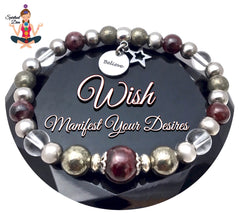 WISH Manifestation Energy Healing Crystal Reiki Gemstone Bracelet -Spiritual Diva Jewelry