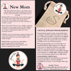 New mother Mom baby healing crystal reiki collection description cards gift bag - Spiritual Diva