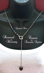 Cancer, Immune System Recovery, Healing Crystal Reiki Lariat Necklace