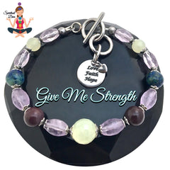 Spiritual Diva Jewelry Strength Grief Depression Healing Crystal Reiki Gemstone Bracelet