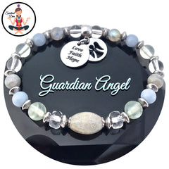 Guardian Angel Energy Healing Crystal Reiki Gemstone Charm Bracelet Spiritual Diva Jewelry