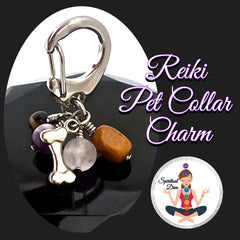 Spiritual Diva Dog Pet Healing Crystal Reiki Genuine Gemstone Collar Charm