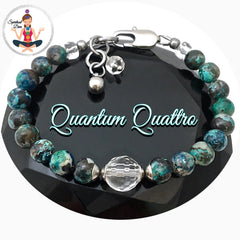 Quantum Quattro Clear Quartz adjustable gemstone bracelet - Spiritual Diva
