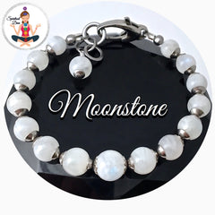 Moonstone Healing Crystal Reiki Gemstone adjustable Bracelet - Spiritual Diva Jewelry