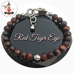 Red Tiger Eye Healing Crystal Gemstone adjustable bracelet = Spiritual Diva