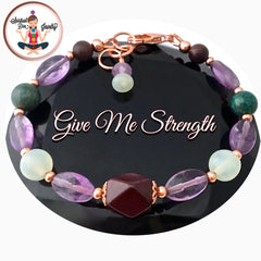 Spiritual Diva Jewelry Strength Grief Depression Healing Crystal Copper Reiki Clasp Bracelet