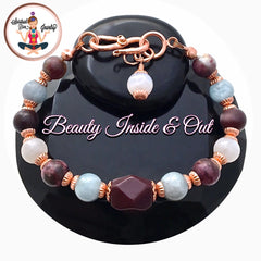 Spiritual Diva Jewelry INNER BEAUTY Healing Crystal Reiki Copper Gemstone Bracelet Moonstone