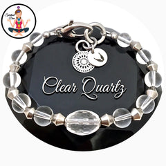 Clear Quartz Healing Crystal Reiki Angel Adjustable Gemstone Bracelet = Spiritual Diva Jewelry