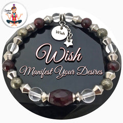 WISH Manifestation Energy Healing Crystal Reiki Gemstone Star Bracelet - Spiritual Diva Jewelry