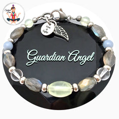 Guardian Angel Energy Healing Crystal Reiki Gemstone Clasp Bracelet - Spiritual Diva Jewelry