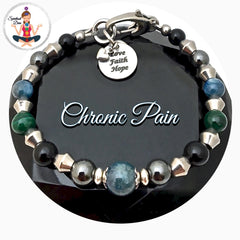 Spiritual Diva Chronic Pain Relief Healing Crystal Reiki Gemstone Adjustable Bracelet