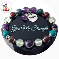 STRENGTH Grief Depression Healing Crystal Reiki Hope Gemstone Bracelet - Spiritual Diva Jewelry
