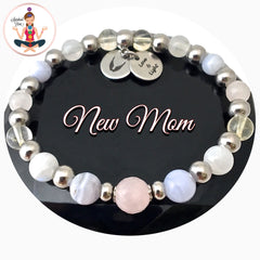 New mom healing crystal reiki gemstone bracelet spiritual Diva Jewelry