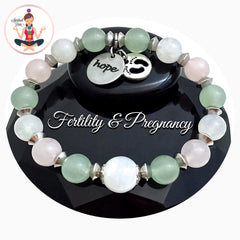 FERTILITY PREGNANCY Energy Healing Crystal Reiki Angel IVF Bracelet - Spiritual Diva Jewelry