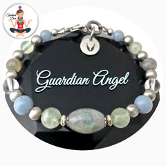 Guardian Angel Energy Healing Crystal Reiki Gemstone Charm Bracelet - Spiritual Diva Jewelry