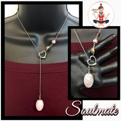 Soulmate Love Healing Crystal Reiki Gemstone Lariat Y Necklace - Spiritual Diva Jewelry