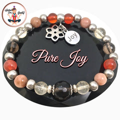 POSITIVE ENERGY Pure Joy Healing Crystal Reiki Gemstone Stretch Bracelet - Spiritual Diva Jewelry