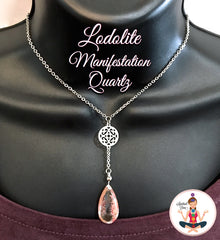Lodolite Inclusion Manifestation Quartz Healing Crystal Reiki Necklace - Spiritual Diva Jewelry