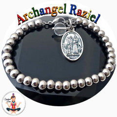 Archangel Raziel Clear Quartz healing Crystal Reiki Gemstone Adjustable Charm Bracelet - Spiritual Diva Jewelry