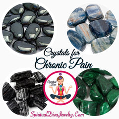 Crystals Chronic Pain relief spiritual Diva Jewelry
