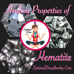 Healing properties hematite pain protection stress Spiritual Diva Jewelry