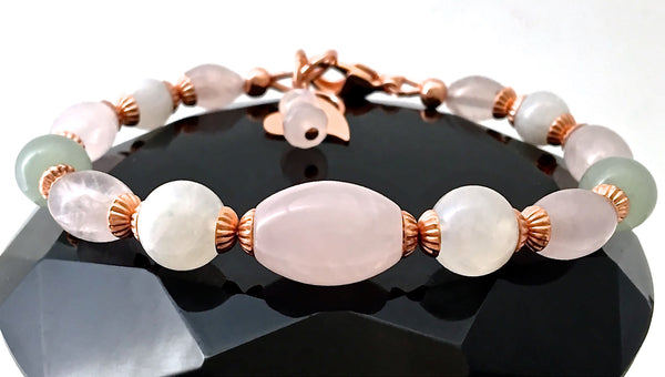 FERTILITY & PREGNANCY Healing Crystal Reiki Gemstone Copper Bracelet - Spiritual Diva Jewelry