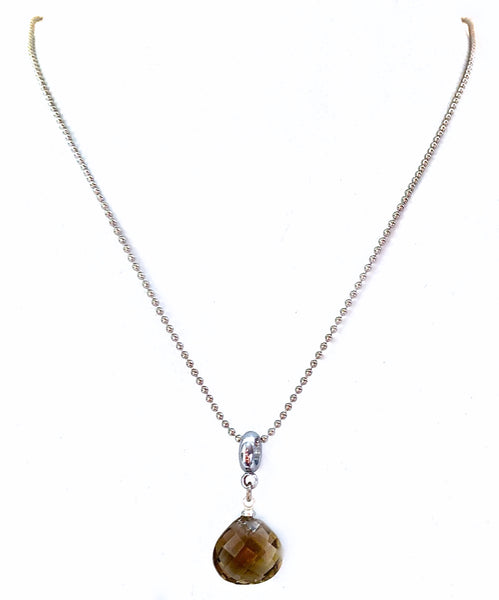 Smoky Quartz Energy Healing Crystal Reiki Gemstone Adjustable Necklace - Spiritual Diva Jewelry