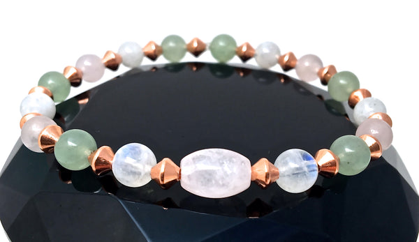 FERTILITY PREGNANCY Healing Crystal Copper Reiki Gemstone Bracelet - Spiritual Diva Jewelry