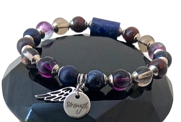 Cancer Immune System Recovery Healing Crystal Reiki Strength Bracelet - Spiritual Diva Jewelry