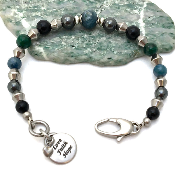 Chronic Pain Relief Healing Crystal Reiki Gemstone Adjustable Bracelet - Spiritual Diva Jewelry