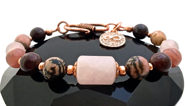 SOULMATE Attract Love Healing Crystal Reiki Angel S clasp Bracelet - Spiritual Diva Jewelry