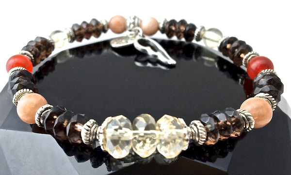 Positive Energy Healing Crystal Reiki Angel Gemstone Stretch Bracelet - Spiritual Diva Jewelry