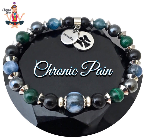 Chronic Pain Relief Healing Crystal Reiki Angel Gemstone Bracelet - Spiritual Diva Jewelry