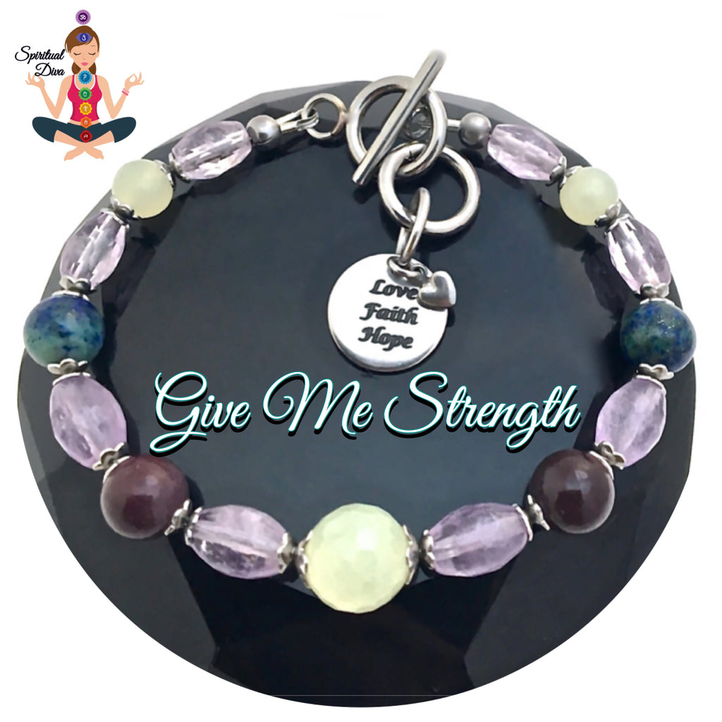 Strength Grief Depression Healing Crystal Reiki Gemstone Bracelet SALE - Spiritual Diva Jewelry