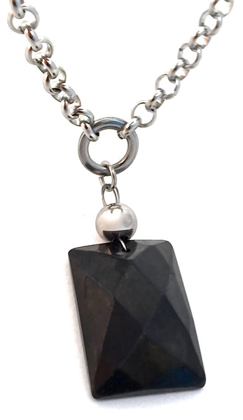 Shungite Energy Healing Crystal Reiki Gemstone Choker Necklace Pendant - Spiritual Diva Jewelry