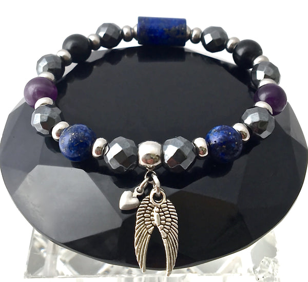 PROTECTION Energy Healing Crystal Gemstone Reiki Angel Bracelet SALE - Spiritual Diva Jewelry