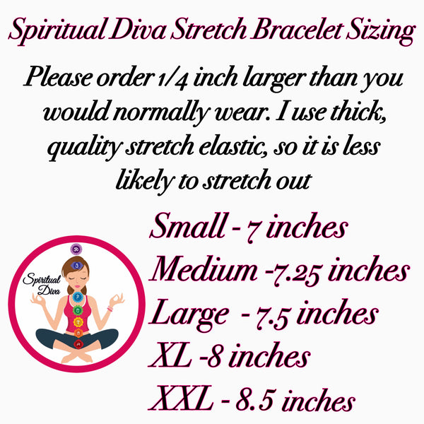 spiritual Diva Jewelry womens stretch bracelet sizing