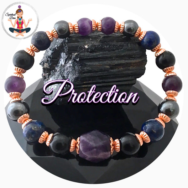 Protection energy healing Crystal reiki bracelet Copper Tourmaline - Spiritual Diva Jewelry