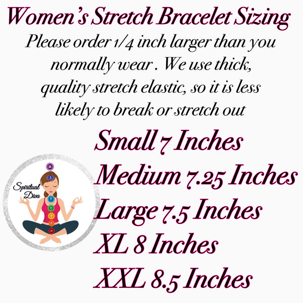 Spiritual Diva Jewelry women's stretch bracelet sizing