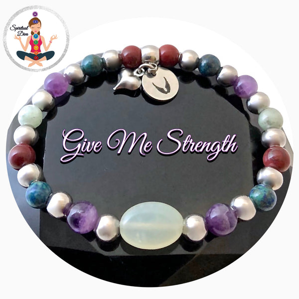 Strength Grief Depression Healing Crystal Reiki Gemstone Angel Bracelet - Spiritual Diva Jewelry