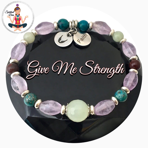 Strength Grief Depression Healing Crystal Reiki Gemstone Angel Faith Bracelet - Spiritual Diva Jewelry