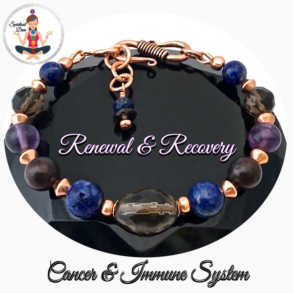 Cancer Immune System Recovery Healing Crystal Reiki Copper Gemstone Bracelet - Spiritual Diva Jewelry