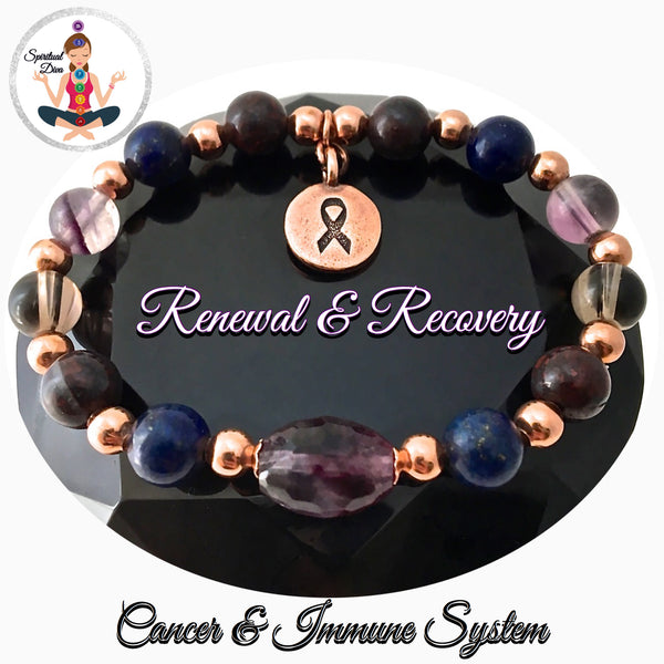 Cancer Immune System Recovery Healing Crystal Copper Reiki Bracelet - Spiritual Diva Jewelry