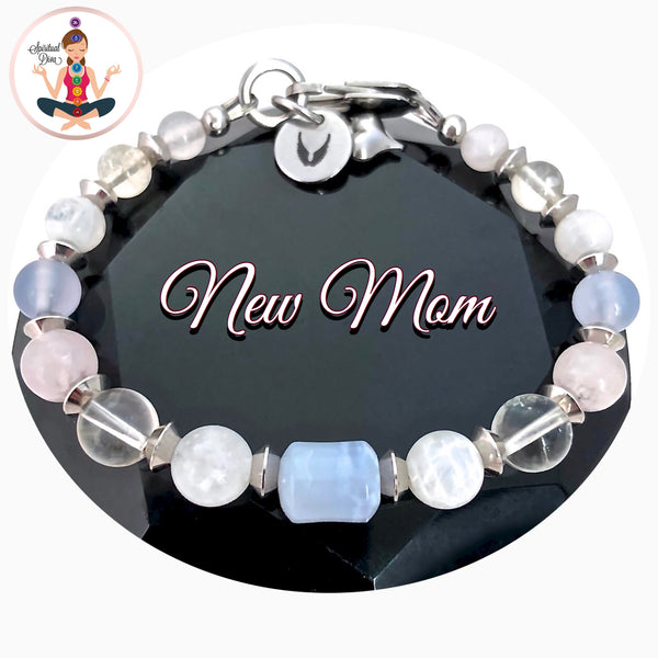 New Mother Baby Reiki Healing Crystal Gemstone Angel Bracelet SALE - Spiritual Diva Jewelry