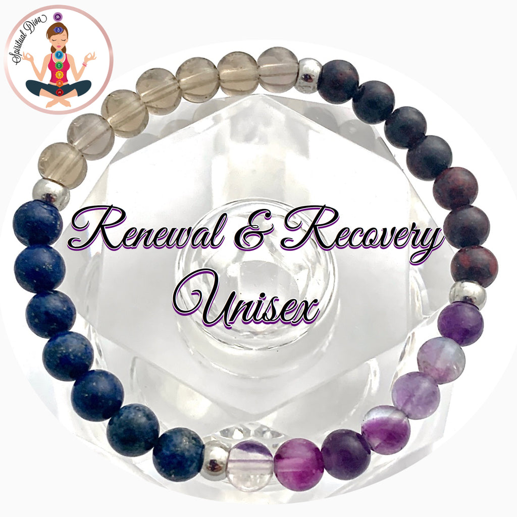Spiritual Diva Jewelry Cancer Immune System Recovery Healing Crystal Men Unisex Reiki Bracelet