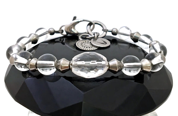Clear Quartz Energy Healing Crystal Reiki Angel Adjustable Bracelet - Spiritual Diva Jewelry