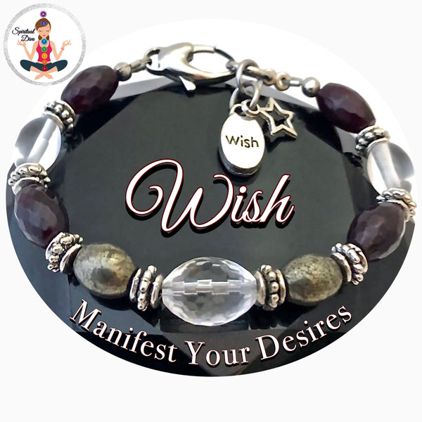 WISH Manifestation Energy Healing Crystal Reiki Gemstone Star Adjustable Bracelet SALE - Spiritual Diva Jewelry
