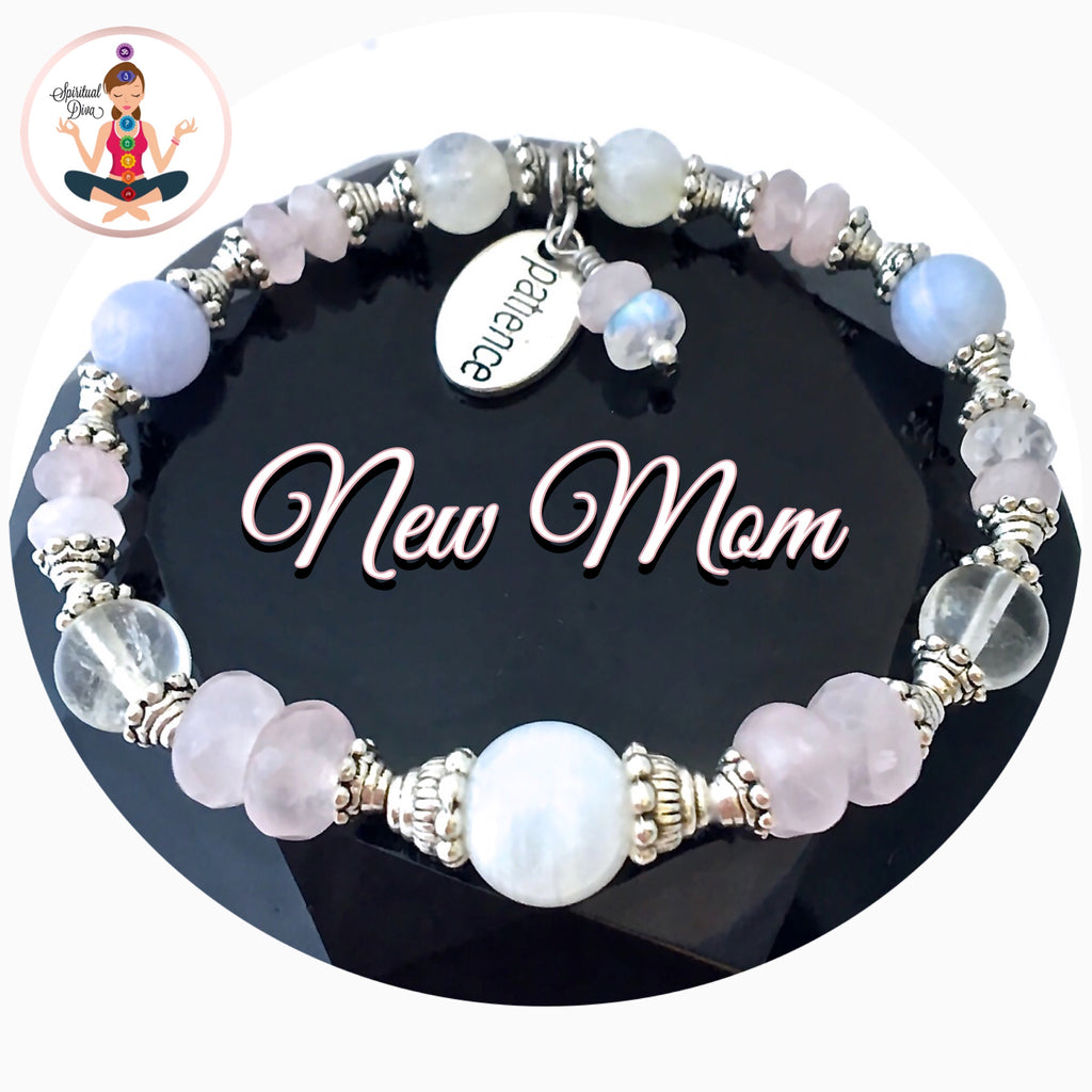 New Mother Baby Gift Healing Crystal Reiki Gemstone Bracelet SALE - Spiritual Diva Jewelry